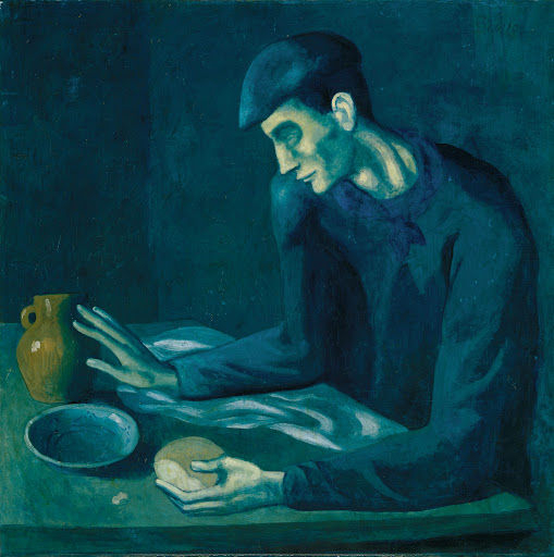The Lonesome Crouching Nude was hidden beneath Pablo Picasso's The Blind Man's Meal.