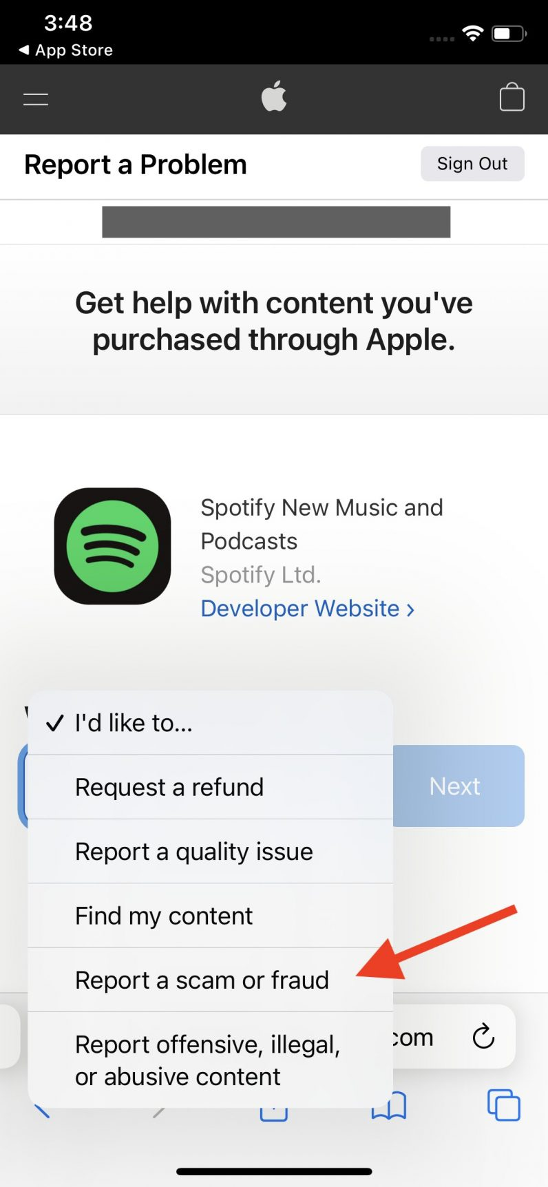 New option for reporting scam apps in the App Store