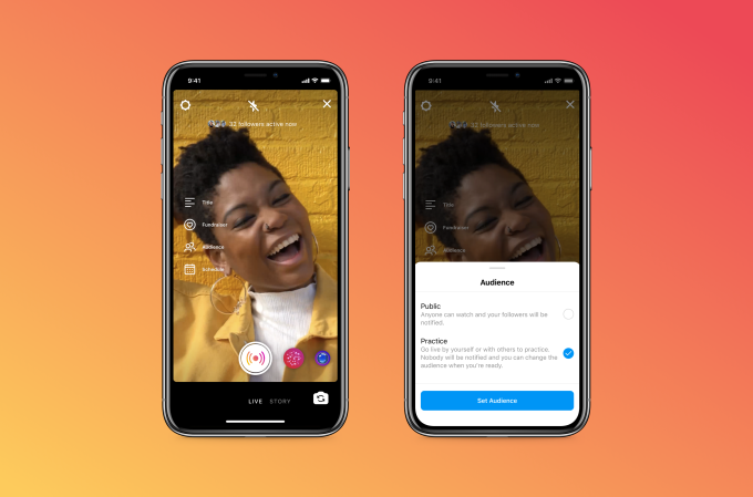 Instagram's practice mode will let you set up for live video