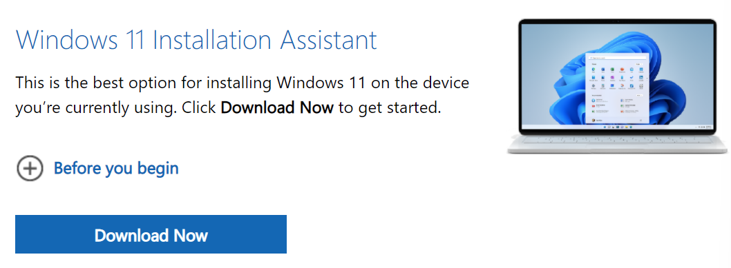 Windows 11 Installation Assistant Download