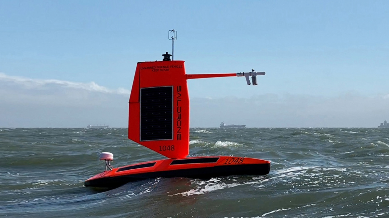 The Saildrone Explorer SD 1045 is capturing scientific data about hurricanes.