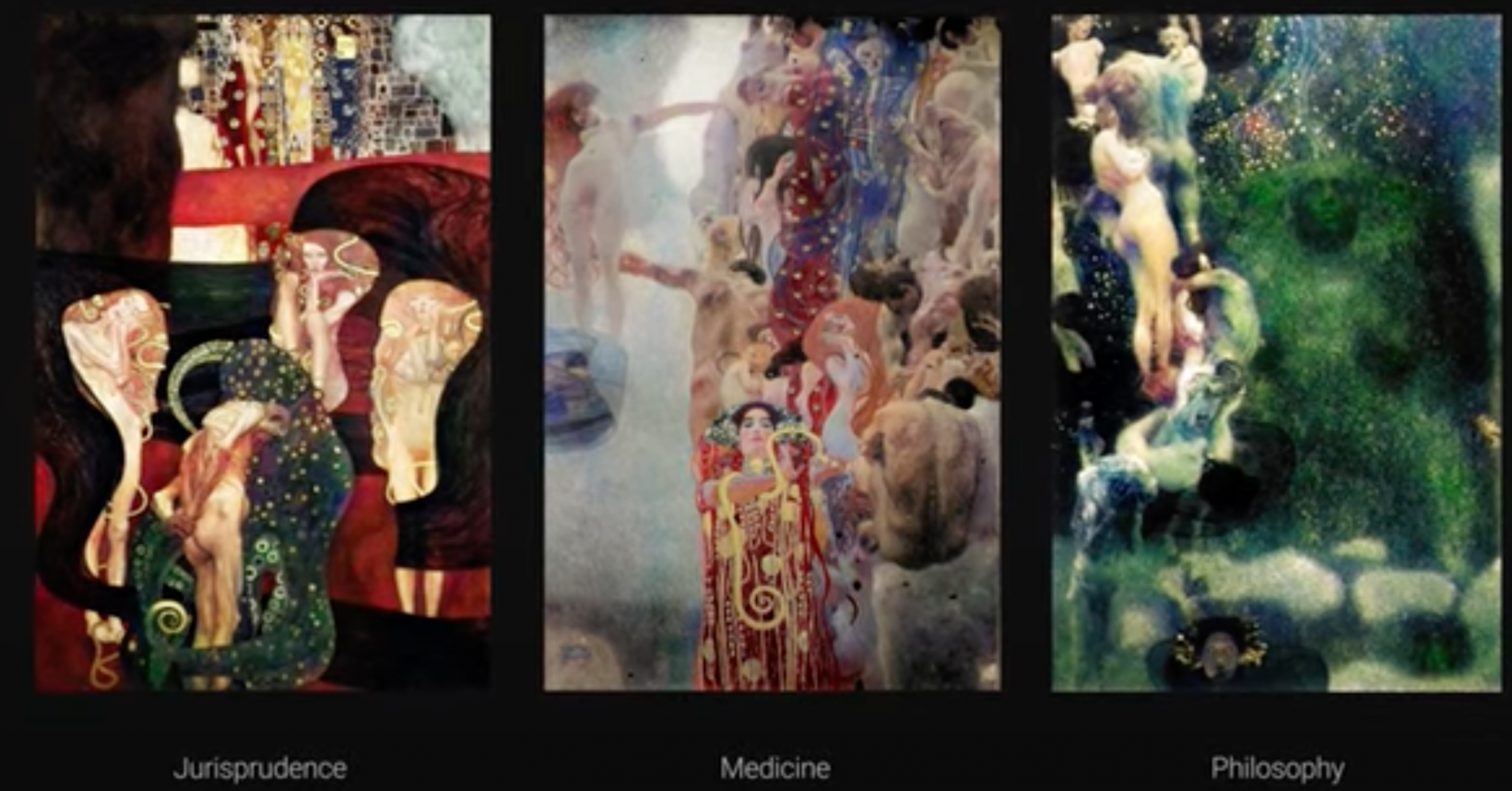 Google used AI to restore disappeared Klimt masterpieces.