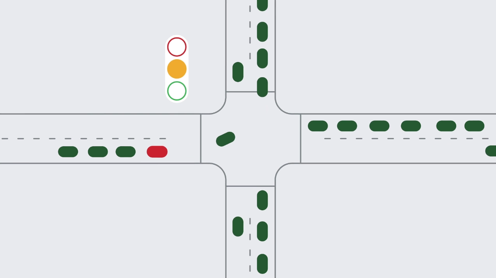 Google says that AI can make traffic lights more efficient.