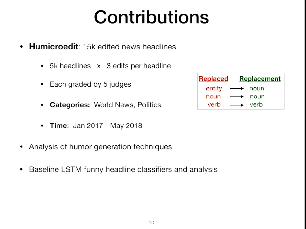 A screenshot showing how the MS team built a database of supposedly funny headlines
